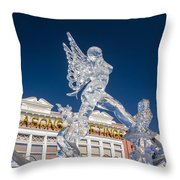 The Annual Ice Sculpting Festival In The Colorado Rockies, The Allure Of A Siren Throw Pillow