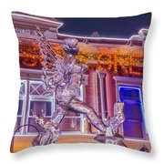 The Annual Ice Sculpting Festival In The Colorado Rockies, The Beguiling Siren Throw Pillow