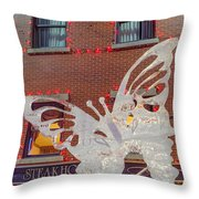 The Annual Ice Sculpting Festival In The Colorado Rockies, The Flittering Butterfly Throw Pillow