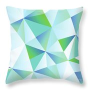 Ice Shards Abstract Geometric Angles Pattern Throw Pillow