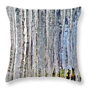 Ice Sickle Curtains Throw Pillow