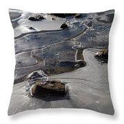 Ice Snakes Throw Pillow