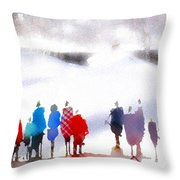 Ice Space Throw Pillow
