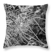 Ice Storm 2 - Bw Throw Pillow