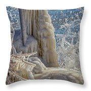 Ice Structures Throw Pillow