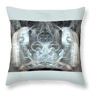 Ice Temple Throw Pillow