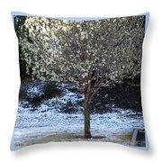 Ice Tree Throw Pillow