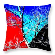 Ice Tree Throw Pillow by Eikoni Images