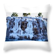 Ice Water Fall Throw Pillow
