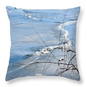 Ice Waves Throw Pillow