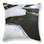 Ice Whirlpool Throw Pillow