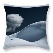Iceberg And Cloud Throw Pillow