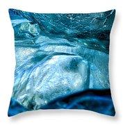 Iceberg Details #8 - Iceland Throw Pillow