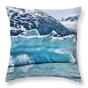 Iceberg Glacier Alaska  Throw Pillow