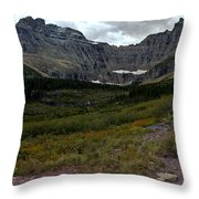 Iceberg Hike Throw Pillow
