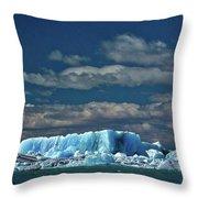 Iceberg In Viedma Lake - Patagonia Throw Pillow