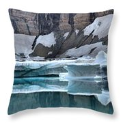 Iceberg Lake Icebergs Throw Pillow