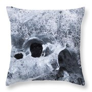 Iceberg On Jokulsarlon Iceberg Beach #07 Throw Pillow