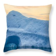 Iceberg On The Jokulsarlon Glacial Throw Pillow