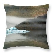 Iceberg Reflections Throw Pillow