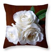 Iceberg Rose Trio Throw Pillow