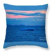 Iceberg Sunset Throw Pillow