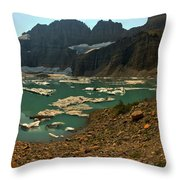Icebergs Below Grinnell Glacier Throw Pillow