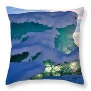 Iceberg's Glow - Mendenhall Glacier Throw Pillow