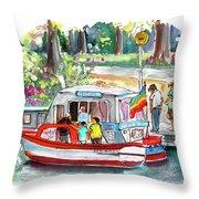 Icecream Boat In York Throw Pillow