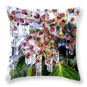 Iced Ivy Throw Pillow