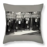 Iced Tea In Pitchers Throw Pillow