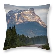 Icefields Parkway Banff National Park Throw Pillow