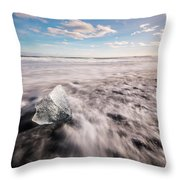 Iceland And Glaciers Throw Pillow