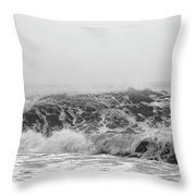 Iceland Black Sand Beach Wave Three Throw Pillow