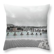 Iceland Blue Lagoon Geothermic Seawater Throw Pillow