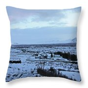 Iceland Country Side Clouds Mountains Stream Iceland Rocks Lake Clouds Iceland 2 2112018 0971 Throw Pillow