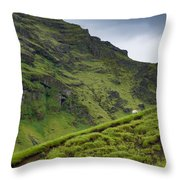 Iceland Hill Throw Pillow