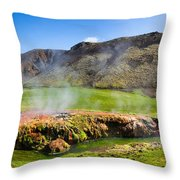Iceland Landscape Panorama Wonderful Colors Throw Pillow
