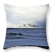 Iceland Lava Field Mountains Clouds Iceland Lava Field Mountains Clouds Iceland 2 282018 1837.jpg Throw Pillow