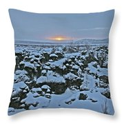 Iceland Lava Field Sunrise Mountains Clouds Iceland 2 2112018 1024jpg Throw Pillow