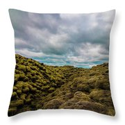 Iceland Moss And Clouds Throw Pillow