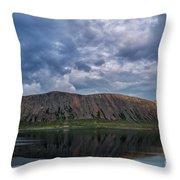 Iceland Mountain Reflections  Throw Pillow