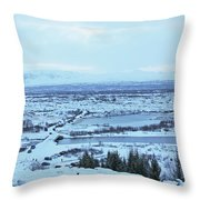 Iceland Mountains Lakes Roads Bridges Iceland 2 2112018 0945 Throw Pillow