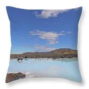Iceland Popular Blue Lagoon  Throw Pillow