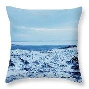 Iceland Rocks Lake Clouds Iceland 2 2112018 0935 Throw Pillow