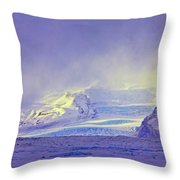Iceland Sunrise Glacier Lava Field Sunrise Mountains Clouds Iceland 2 2122018 1882.jpg Throw Pillow