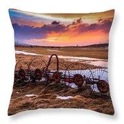Iceland Sunset # 1 Throw Pillow