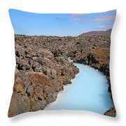 Iceland Tranquil Blue Lagoon  Throw Pillow
