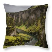Iceland Valley Throw Pillow