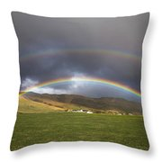 Icelandic Rainbows Throw Pillow